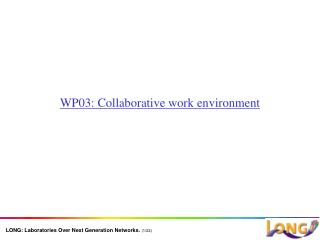 WP03: Collaborative work environment