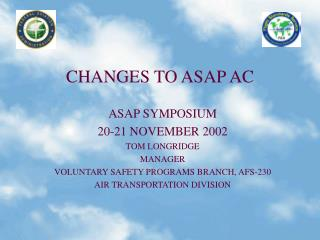 changes to asap ac