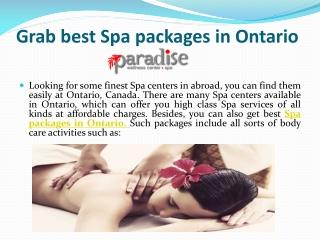 Best Ontario Spa Packages
