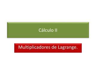 C lculo II