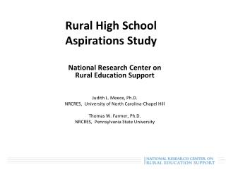 Rural High School Aspirations Study