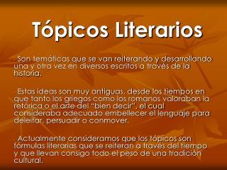 T picos Literarios