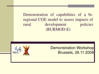 Demonstration of capabilities of a bi-regional CGE model to assess impacts of rural development policies  RURMOD-E