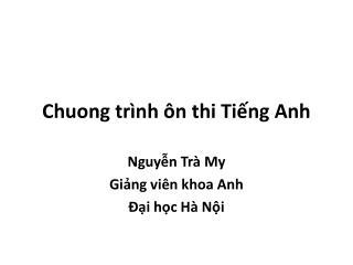 Chuong tr nh  n thi Ting Anh