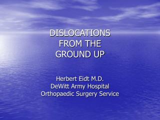 dislocations from the ground up