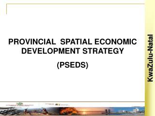PROVINCIAL  SPATIAL ECONOMIC DEVELOPMENT STRATEGY  PSEDS