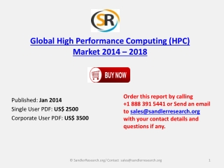 High Performance Computing (HPC) Market Forecast to 2018