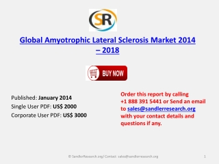 Global Amyotrophic Lateral Sclerosis Market Outlook 2014-201