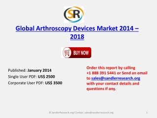 Analysis of Arthroscopy Devices Market on 2018