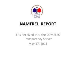 NAMFREL  REPORT