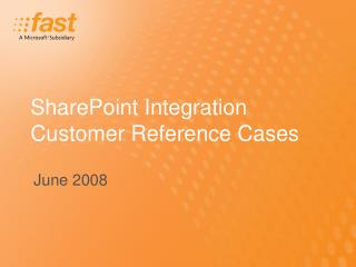SharePoint Integration Customer Reference Cases