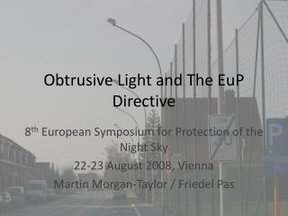 Obtrusive Light and The EuP Directive