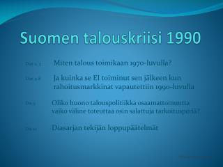 Suomen talouskriisi 1990