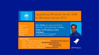 Upgrading Windows Server 2008 to Windows Server 2012