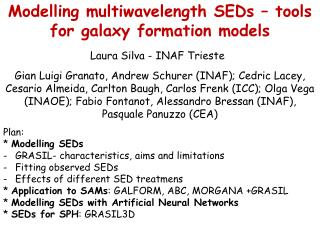 Modelling multiwavelength SEDs   tools for galaxy formation models