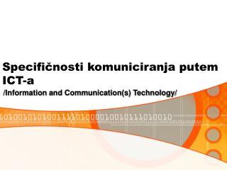 Specificnosti komuniciranja putem ICT-a