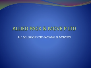Packer and Movers in Delhi and Noida