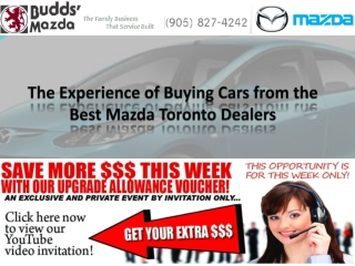 The Experience of Buying Cars from the Best Mazda Toronto Dealers