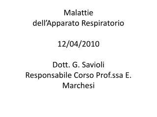 Malattie  dell Apparato Respiratorio  12
