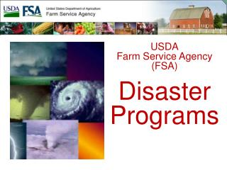 USDA Farm Service Agency FSA  Disaster  Programs