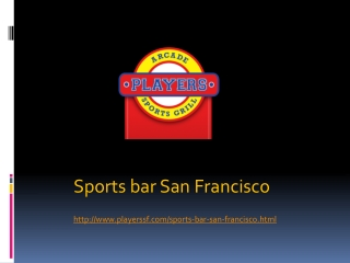 Sports Bar San Francisco