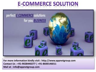 E-Commerce Solution(Wordpress,PHP,Zoomla,Maganto)