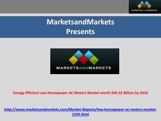 Energy Efficient Low Horsepower AC Motors Market