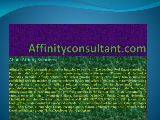 "dlf project bangalore |""affinityconsultant.com""
