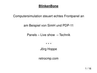 BlinkenBone