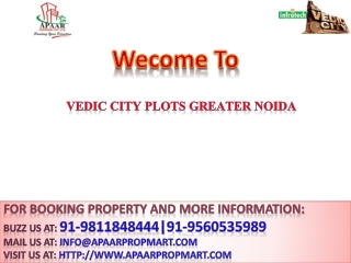 Rate Plan Vedic City Plots Greater Noida@9811848444