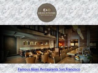 Modern Asian Restaurant San Francisco