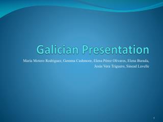 Galician Presentation