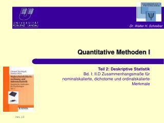 Quantitative Methoden I