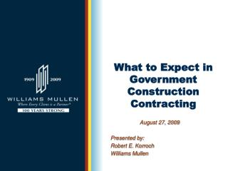 What to Expect in Government Construction Contracting