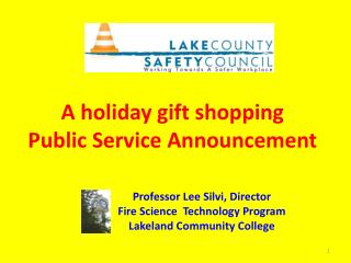 A holiday gift shopping  Public Service Announcement