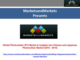 Chinese and Japanese Photovoltaic Market (2010 - 2015)