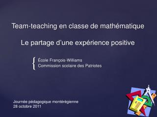 Team-teaching en classe de math matique   Le partage d une exp rience positive