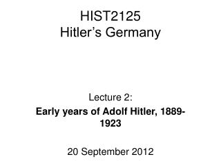 HIST2125 Hitler s Germany