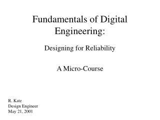 Fundamentals of Digital Engineering: