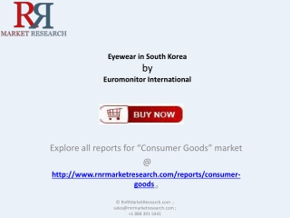 South Korea Eyewear Market : Consumer Goods Industry Analysi