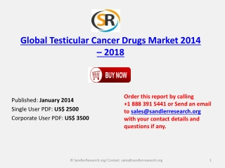 Worldwide Testicular Cancer Drugs Market 2014-2018 Analysis