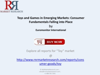 Growth of  Toys and Games Industry