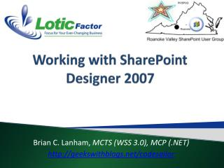 Working with SharePoint Designer 2007