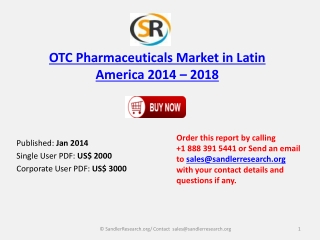 Analysis for OTC Pharmaceuticals Market in Latin America 201