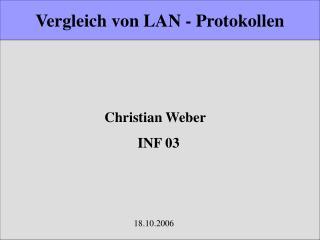 Vergleich von LAN - Protokollen
