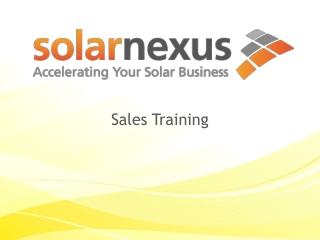 SolarNexus Sales Training