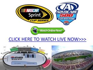 nascar sprint cup advocare 500 live atlanta motor speedway