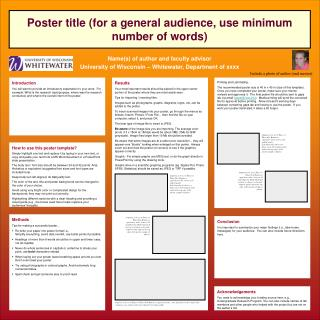 Poster title for a general audience, use minimum number of words