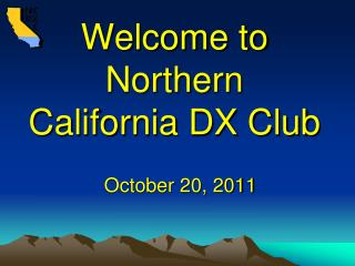 Welcome to  Northern California DX Club