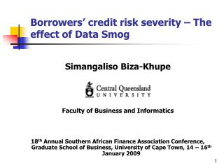Borrowers  credit risk severity   The effect of Data Smog